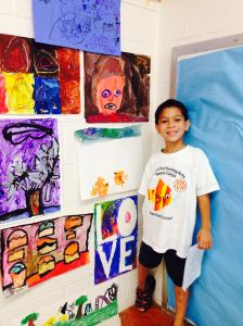 The other artist in the family and his projects from camp.