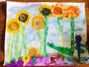 "Mark's creation entitled ""Pappaw's Garden"" was a gift to my dad for his birthday."