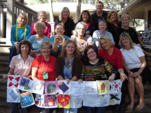 The Annual Women's Retreat at PAG Church, early Spring 2009.  Our group made squares to put together into an altar cloth.